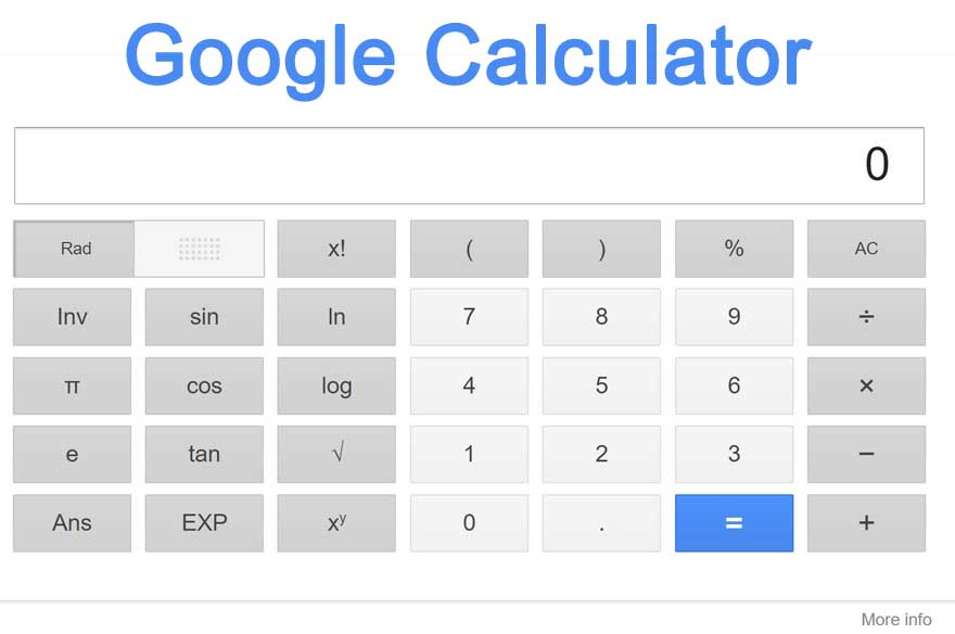 google online calculator free
