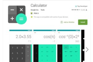 Google Calculator App