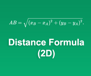 2D Distance Formula Calculator